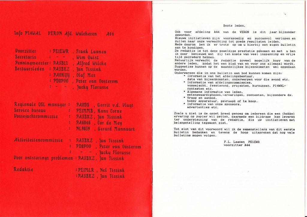 Pagina 1 en 2 van de eerste Rondstraler