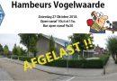 Hambeurs Vogelwaarde 27 oktober afgelast!